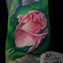 Pink Rose Bud  Tattoo Design Thumbnail