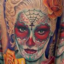 Dia De Los Muertos portrait of Gwen Stephani Tattoo Design Thumbnail