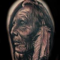 Native Warrior Tattoo Design Thumbnail