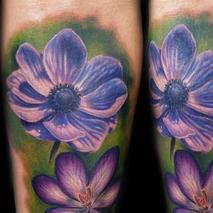 Color Flowers  Tattoo Design Thumbnail