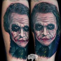 Heath Ledger Joker  Tattoo Design Thumbnail