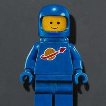 Blue Lego Spaceman Original Artwork Thumbnail